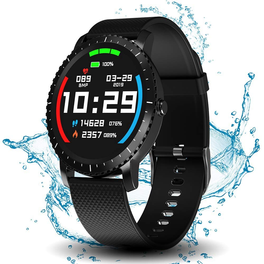 Smart Watch with Connected GPS, IP68 Waterproof Digital Smart Fitness Watches for Man Woman, Activity Tracker with Heart Rate and Blood Pressure Monitor Compatible with Android and iOS by DoSmarter