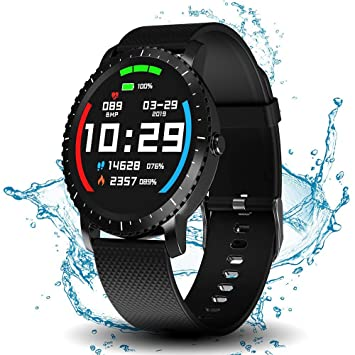 Smart Watch with Connected GPS, IP68 Waterproof Digital Smart Fitness Watches for Man Woman, Activity Tracker with Heart Rate and Blood Pressure ...