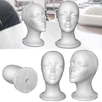 WiFndTu Modelo de cabeza de poliestireno, maniquí femenino de ...