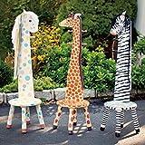 Teamson Kids - Safari Stool with Coat Rack - Zebra