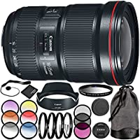 Canon EF 16-35mm f/2.8L III USM Lens 11PC Accessory Kit - Includes 3 Piece Filter Kit (UV + CPL + FLD + 4PC Macro Filter Set (+1,+2,+4,+10) + MORE