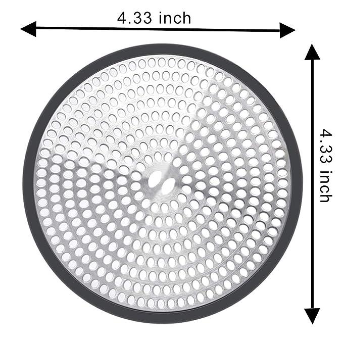 Borde de Silicona con Pinzas ydfagak 11,4 cm Protector de Drenaje de Pelo para ba/ñera o Fregadero