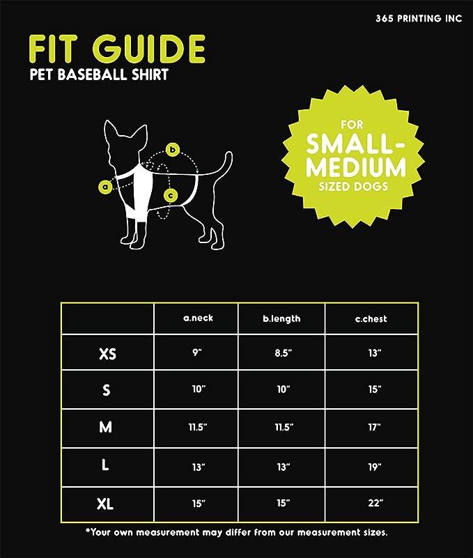 Camiseta de béisbol para Perros y Gatos pequeños, 365 ...