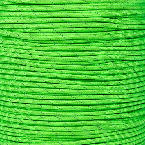 Paracord Planet Reflective Paracord Made of 100% Nylon With 7 Inner-core Strands Available In 10, 25, 50, and 100 Foot Lengths That is Made in the (Reflective Glow Strips)