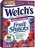 WELCH'S Berries 'n Cherries Fruit Snacks, 0.9 Ounce, 65 Count (65 Count)