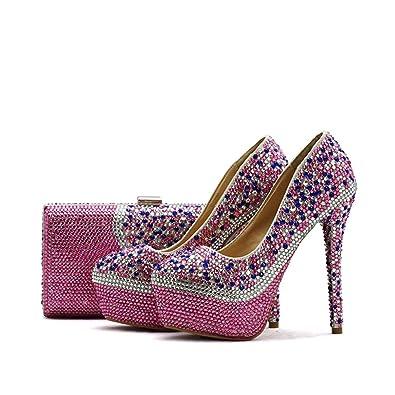 Amazon.com: Sparrow Rhinestone boda fiesta zapatos con a ...