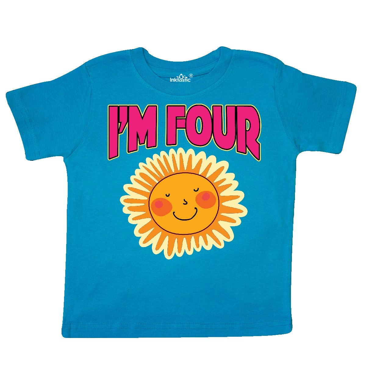 inktastic 4th Birthday Party 4 Year Old Sunshine Toddler T-Shirt