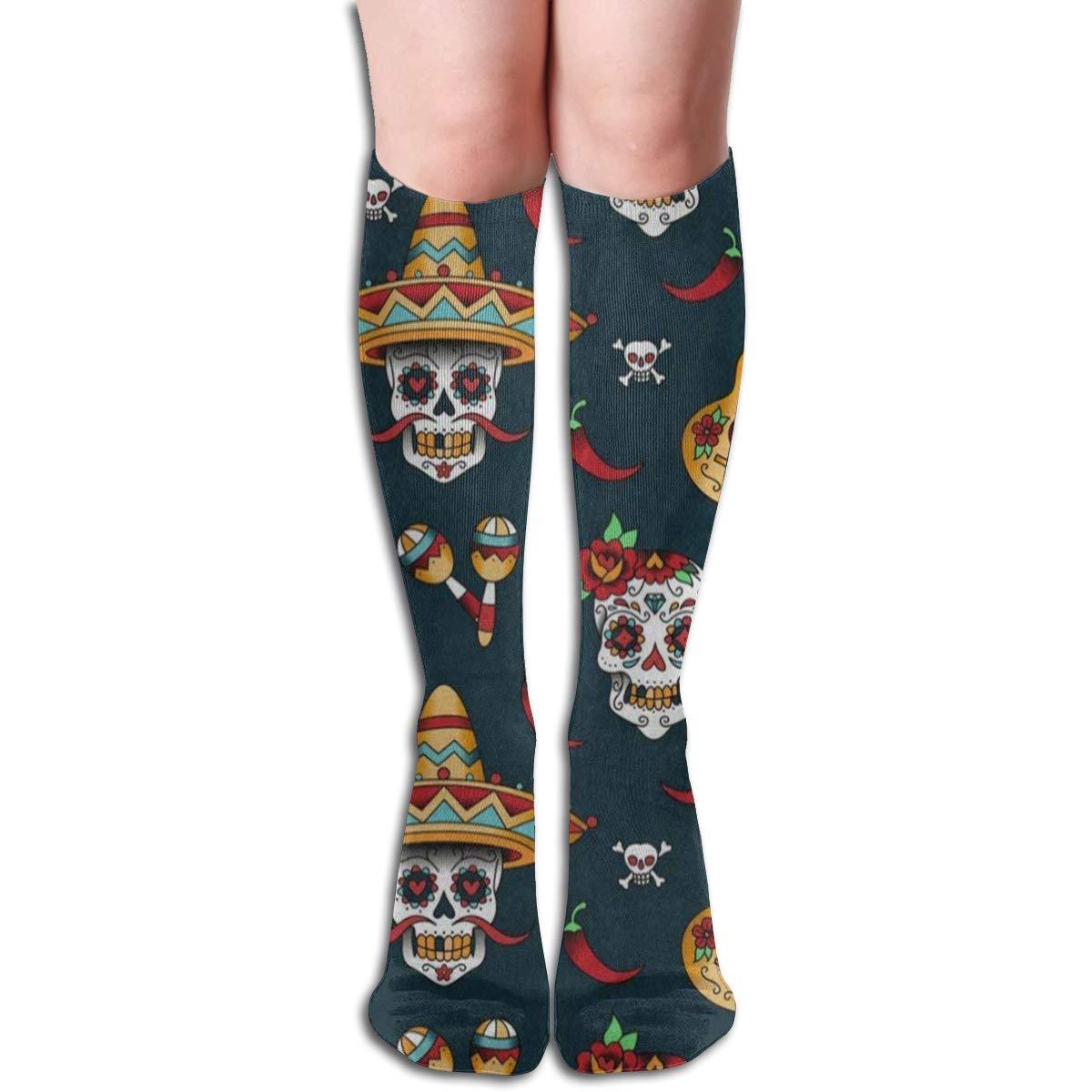 Girls Socks Over Knee Modern City Watercolor Winter Fabulous For Thanksgiving Day