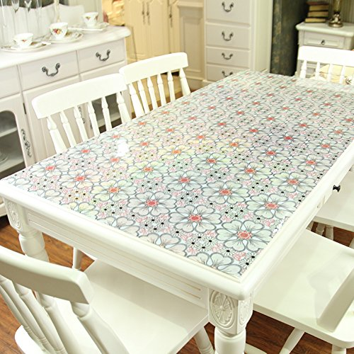 [waterproof],non-washing table cloth/pvc,soft glass,oil-proof table cloth/clip flower plastic table mat/tea table mats-A 100x100cm(39x39inch) by KDHKDNVNIDLL