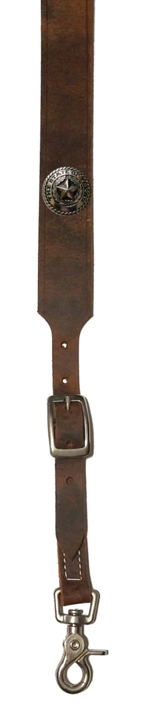 Custom Texas Silver Seal Leather suspenders in Bay Apache Brown. Made in the USA