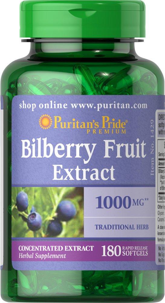 Puritan's Pride 2 Pack of Bilberry 1000 mg Puritan's Pride Bilberry 1000 mg-180 Softgels