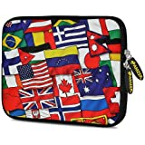 Amzer 10.5-Inch Designer Neoprene Sleeve Case Pouch for Tablet, eBook and Netbook - Flags United (AMZ5167105)
