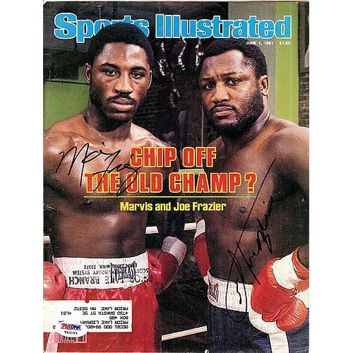 c9b071a5760 Joe Frazier   Marvis Frazier Signed Magazine Cover - Certified ...