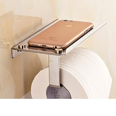 MOMO Titular de Papel higiénico de Acero Inoxidable/Poner el teléfono Antiguo Rollo de Toallas
