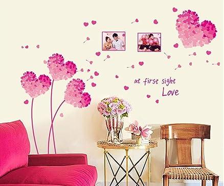 ufengke® Romantico Rosa Fiori A Forma di Cuore Photo Frame Adesivi ...