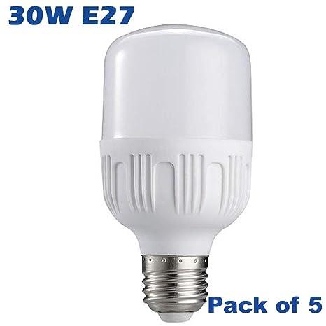 5 bombillas LED de 5 a 40 W E27 de alta potencia AC85 – 265 V