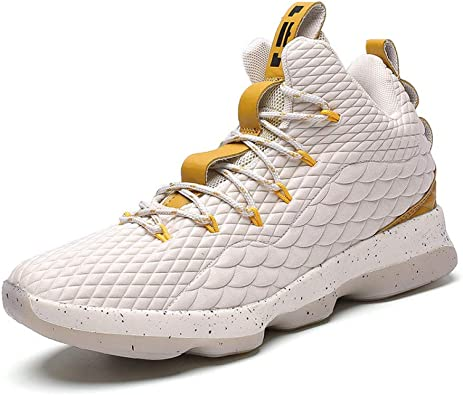 Calzado Deportivo para Exteriores, Zapatillas Altas De Baloncesto, Botas Antideslizantes Resistentes Al Desgaste De Gran Tamaño, Absorción De Impactos Masculina, Moda Y Ocio, 34: Amazon.es: Zapatos y complementos