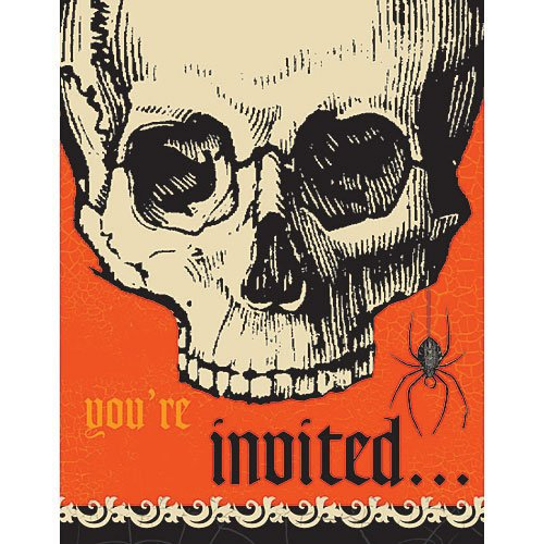 Be Afraid Halloween Invitations Value Pack -