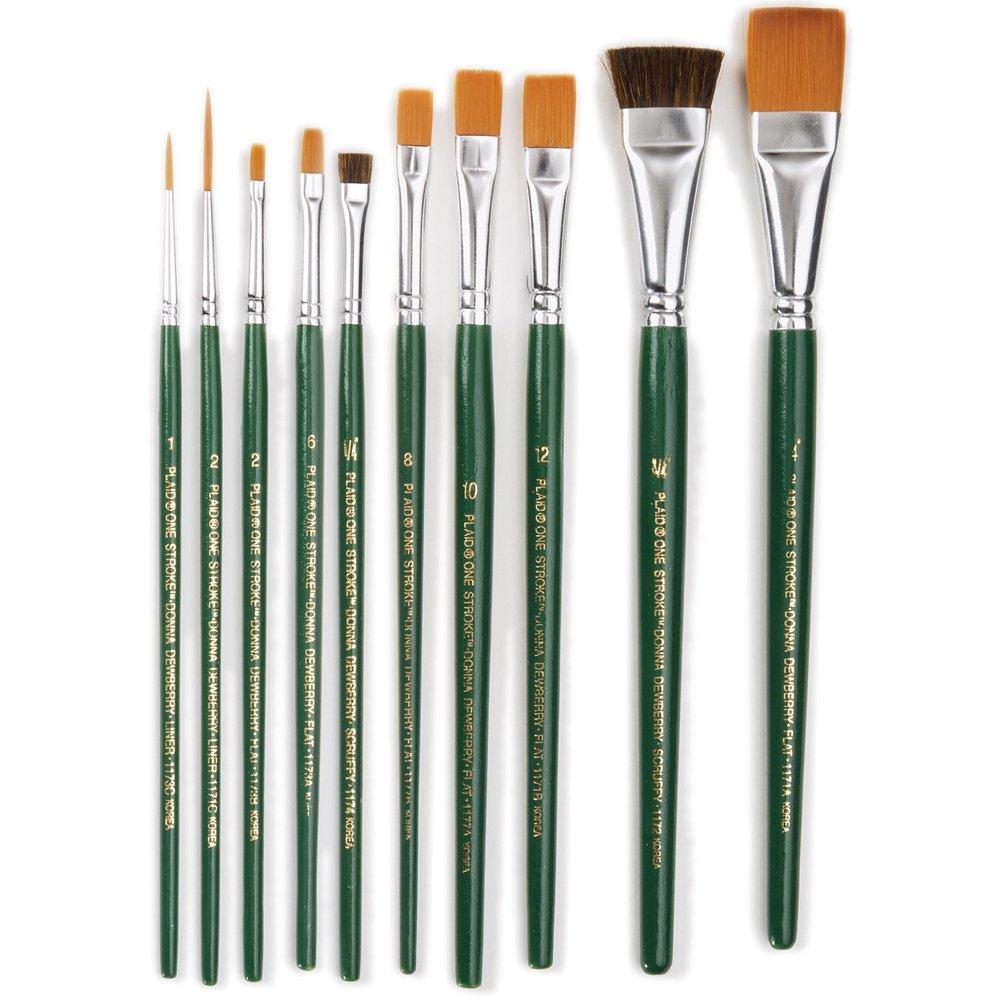 One Stroke Brush Set, 1059 (10-Pack) by One Stroke