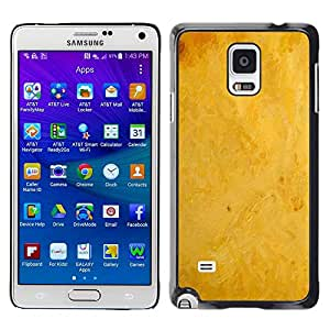 LECELL -- Funda protectora / Cubierta / Piel For Samsung Galaxy Note 4 SM-N910F SM-N910K SM-N910C SM-N910W8 SM-N910U SM-N910 -- Yellow background --