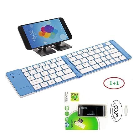 brand new f8451 62456 TOPåš Quality Folding Wireless Bluetooth Keyboard Case for Samsung ...