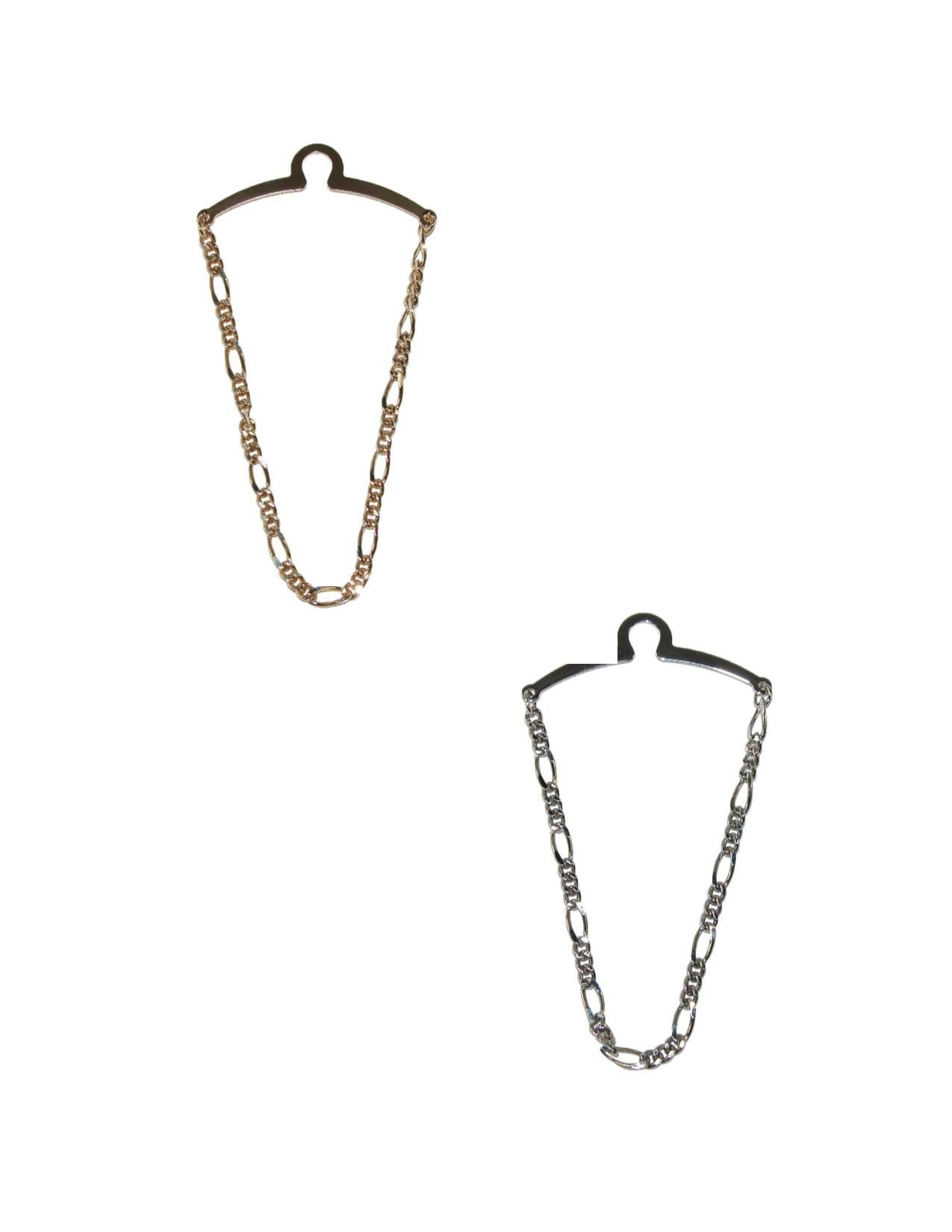 Competition Inc. Men's Figaro Style Link Tie Chains (Pack of 2), Gold/Silver