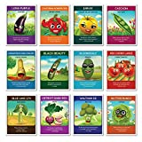 Zziggysgal – Heirloom Culinary Vegetable Seeds (12 pack) – Eggplant, Bell Pepper, Yellow Tomato, Cherry Tomatoes, Snap Peas, Squash, Zucchini, Spinach, Bush Beans, Beets, Broccoli, Lettuce