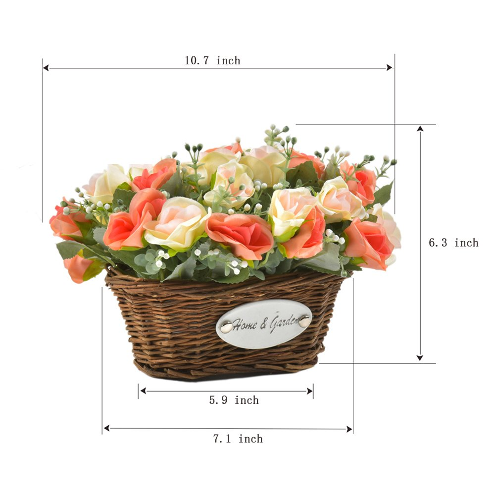 Amazon Hyxflower Artificial Silk Rose Wedding Flowers Floral