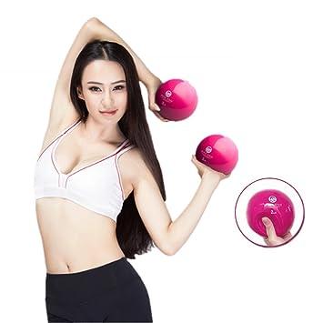 1 par ergonómico diseño suave pelotas de pesas mancuernas mano held – Balón de ejercicio casa