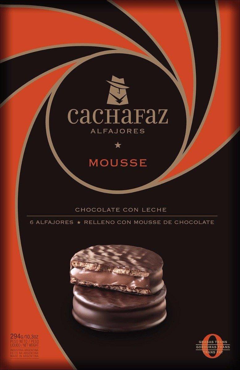 Amazon.com : Cachafaz Alfajores de Mousse x6 10.5 oz : Grocery & Gourmet Food