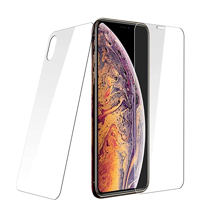 """8 opinioni per PaceBid [2 Pack] (Anteriore e Posteriore) Vetro Temperato iPhone XS Max (6.5""""),"""