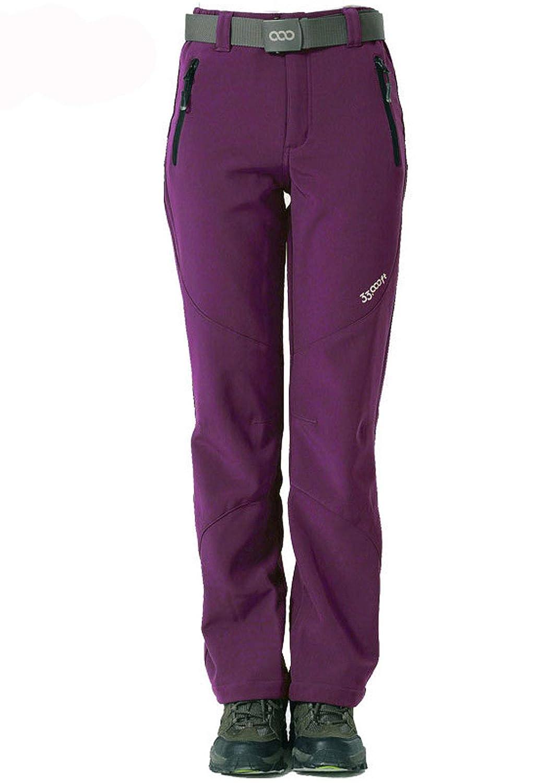 Flygo Womens Fleece Lined Windproof Waterproof Ski Pants Trousers