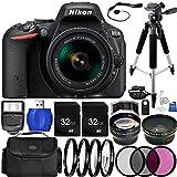 Nikon D5500 DSLR Camera (Black) Bundle with Nikon AF-P DX NIKKOR 18-55mm f/3.5-5.6G VR Lens, Carrying Case and Accessory Kit (29 Items)