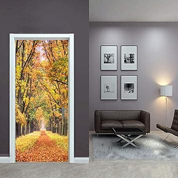 3D Home Door Stickers Self-Adhesive Murals Wall Sticker Beautify Door Stickers