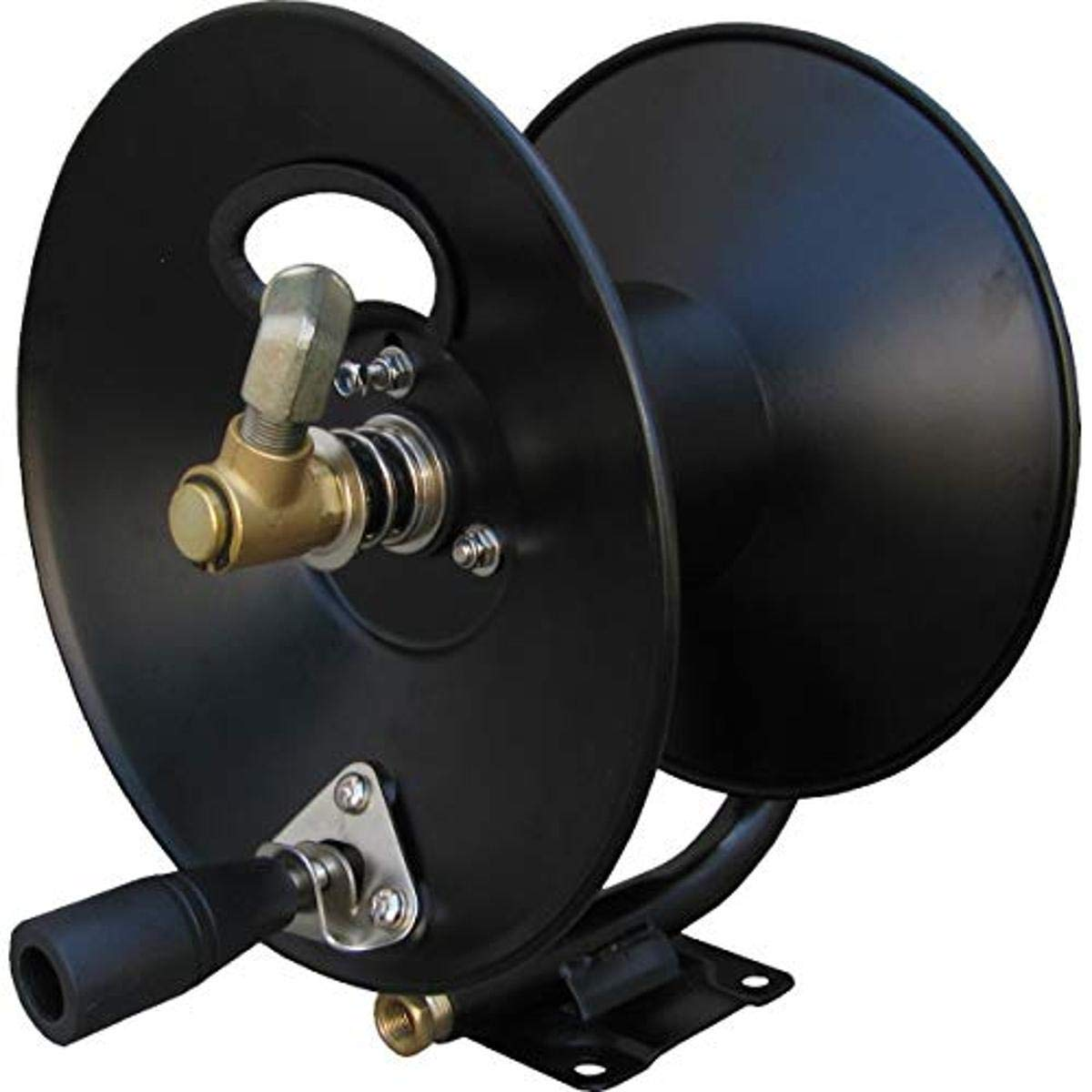 General Pump D30002-AM 3/8in x 100ft Steel Hose Reel, Swivel Arm and Mounting Bracket, 4000 psi