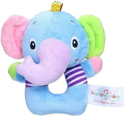 Baby Newborn Infant Soft Animal Handbells Plush Squeeze Rattle Toy Kids Gift W