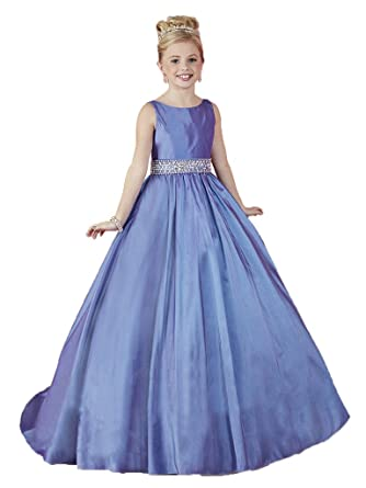 Amazon.com: HuaMei Girls\' Taffeta Scoop Birthday Party Ball Gowns ...