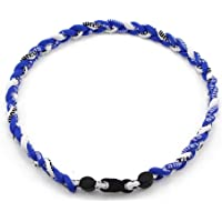 Tinksky 50,8cm necklace-titanium de béisbol de titanio iónico deportes collar trenzado para béisbol y softball Fútbol (Azul)