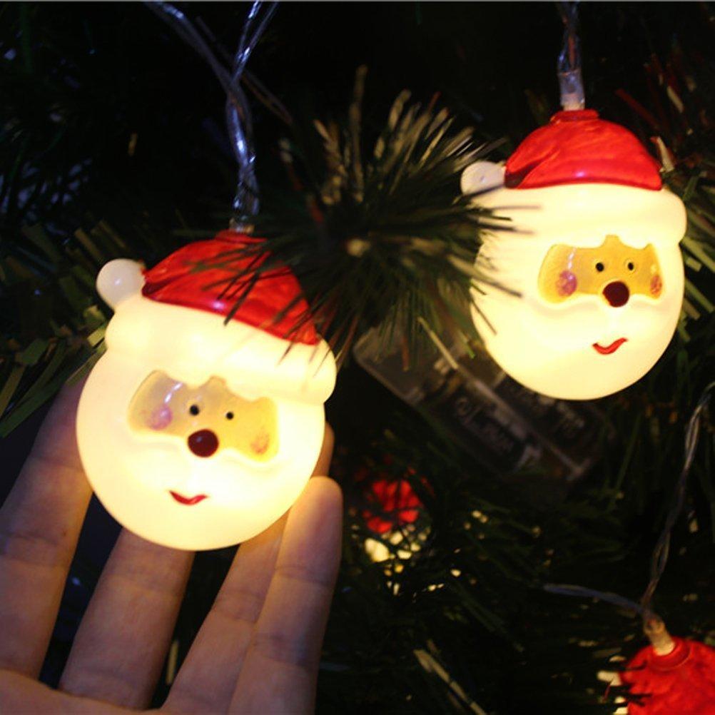 Weihnachtslichterketten, TKSTAR LED Weihnachten Weihnachtsmann ...