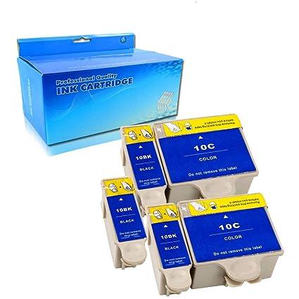 Ouguan® - 5 x (3 Negro, 2 tricolores) Compatible con Kodak ...
