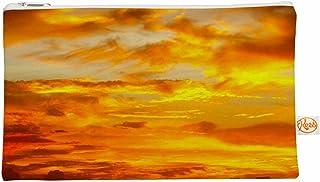 Kess InHouse 12,5x 21,6cm Philippe Marron'Painted Coucher de soleil' Tout ce Sac–Orange