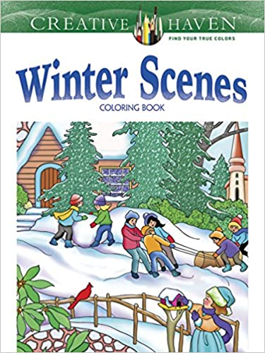 Amazon Creative Haven Winter Scenes Coloring Book Adult 8601411318429 Marty Noble Books
