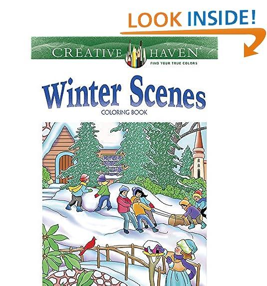 Winter Coloring Book: Amazon.com