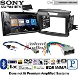 Sony XAV-W651BTN Double Din Radio Stereo Install Kit with Bluetooth, Pandora, iPhone Control, USB, AUX, Navigation Fits 2012-2016 Honda CR-V (Without factory amplified systems)