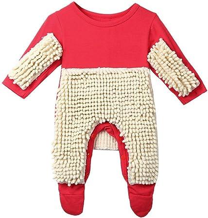 aobiny fregona mopa de ropa de bebé Pelele mono disfraz recién nacido niños bebé Niños Niñas Ropa manga larga Azul y rojo 4 tamaño, Rojo: Amazon.es: Deportes y aire libre