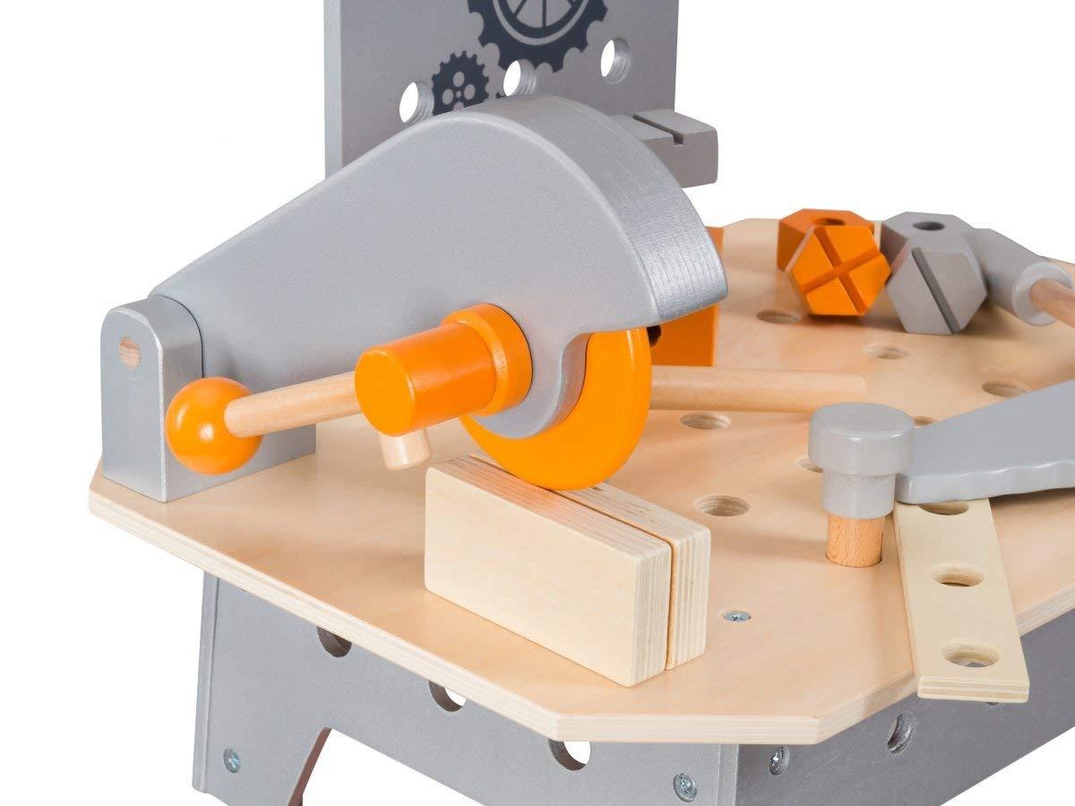 Juega Juegos M/ás de 100 Piezas Aces/órios Mover la Sierra | Dodo Toys de Madera Grande Workbench para ni/ños