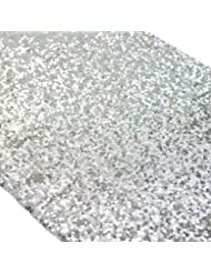 Koyal Wholesale Sequin Table Runner, 12 By 108 Inch, Silver