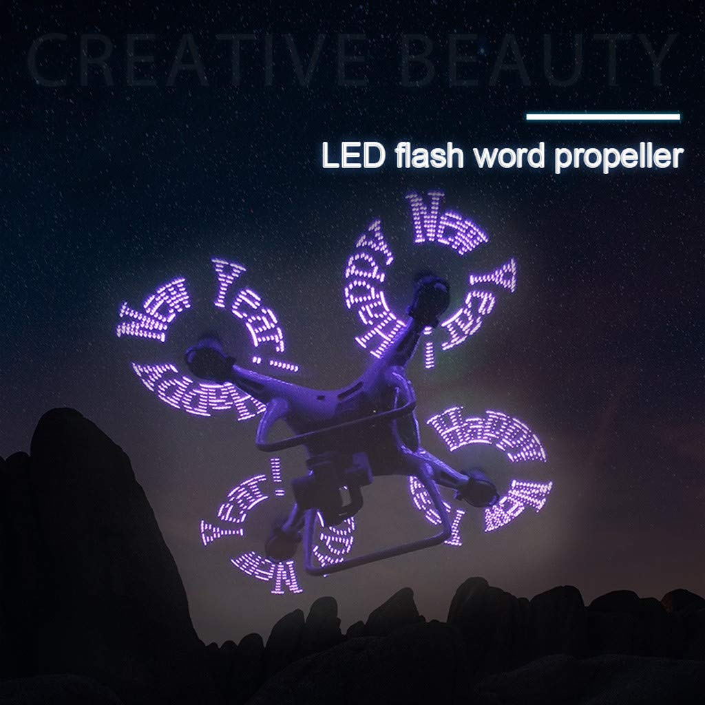 Drone Propellers 2 Pairs Programmable LED Flash Word Propeller for DJI 4/ Pro/ Pro V2.0/ Advanced by Tronet RC Drone (Image #3)