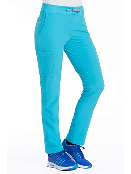 e4fc94e76db Med Couture Air Scrubs for Women, Yoga 2 Cargo Pocket Pant,  Turquoise/Apricot
