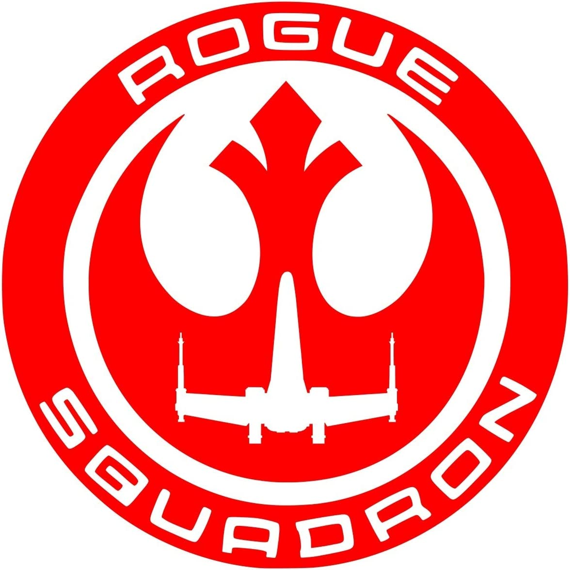UR Impressions Red Rogue Squadron Decal Vinyl Sticker Graphics for Cars Trucks SUV Vans Walls Windows Laptop|RED|5.5 Inch|URI344